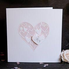Opulent Lace Heart Wedding Day Invitation