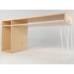 Габариты:  Ширина стола 118 см  Глубина 60 см  Выста 75 см     Стол полностью выполнен из фаеры первого сорта, покрытой матовым лаком. Цвет металлической ножки - черный или белый на выбор.