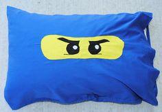 Ninjago party ideas, including making a Ninjago pillow case
