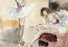 Max Schwimmer 1895 - 1960 Ballerinas Aquarell und Bleistift auf Papier; H 112 mm, B 158 mm (Passepar