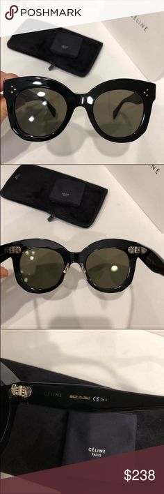 760a22fe14a6 Celine sunglasses 🕶 Celine Chris black grey sunglasses New condition. 100%  authentic guaranteed.