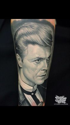 This is my David Bowie tattoo, James Tattoo Art, incredible artist #DavidBowie #DavidBowieTattoo