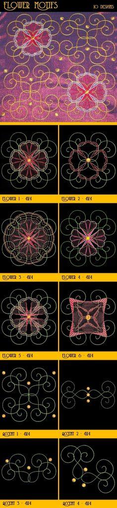 OregonPatchWorks.com - Sets - Flower Motifs