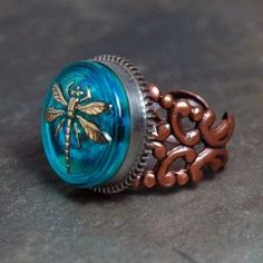love this ring Steam Punk Jewelry, Punk Goth, All That Glitters, Steampunk Fashion, Fashion Rings, Give It To Me, Gemstone Rings, Fashion Accessories, Aqua