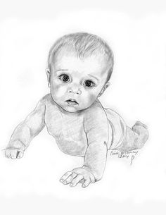Baby Sleeping Sketch by Martin-Lyne   Drawing in 2019 ...