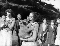 June Mottershead, from Sedbergh (England), adopted this lion cub because the Chester Zoo couldn't take care of him during the war. (World War II)