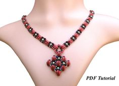 Crescent Tutorial Necklace Pattern Bead Tutorial Beading
