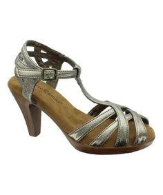 Look what I found on #zulily! Pewter Metallic Ada Sandal by Pierre Dumas #zulilyfinds