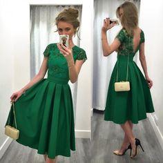 Vestidos verdes para graduacion