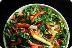 Grubarazzi: Rainbow Kale Salad with Avocado Oil Vinaigrette Best Vegetarian Recipes, Healthy Eating Recipes, Asian Recipes, Ethnic Recipes, Fun Recipes, Healthy Eats, Kale Salad, Avocado Salad, Avocado Oil