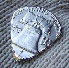 Custom Coin Guitar Pick  Handmade with a by NuevoWoodcrafts, $75.00