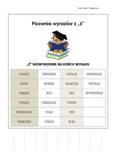 BLOG EDUKACYJNY DLA DZIECI Learn Polish, Polish Language, Gernal Knowledge, Montessori, Classroom, Study, Education, Blog, Learning