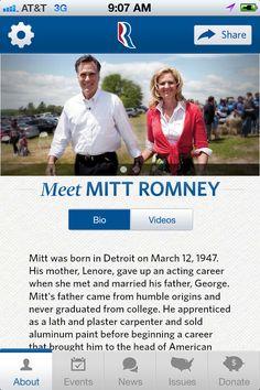 Romney/Ryan mobile app