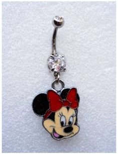 Minnie Mouse belly ring