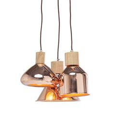 3-lite Pendant Lamp Cappa Tre