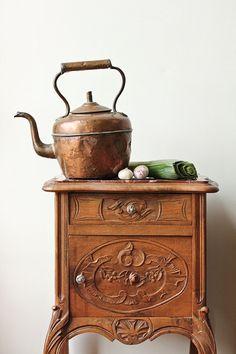 Bright copper kettles...(European Copper Kettle)