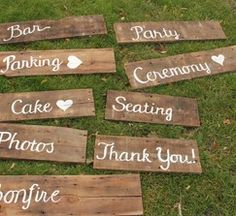 Barn Wood Wedding Signage from 100 Layer Cake