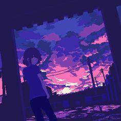 vaporwave sunset ozumikan: sunset after the rain Pix Art, Art Images, Anime Pixel Art, Anime Art, Art And Illustration, Aesthetic Anime, Aesthetic Art, Arte 8 Bits, Pixel Art Background