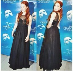 Sierra Boggess at the premiere of the 25th Anniversary of Phantom on Broadway.