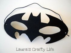 DIY Batman Mask DIY Halloween. Brendon needs this since he thinks he's Batman!