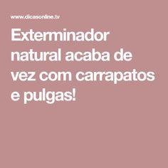 Exterminador natural acaba de vez com carrapatos e pulgas!
