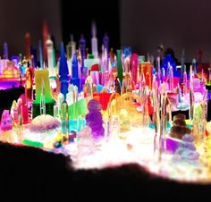 Mike Kelley - city on a light table idea http://www.pinterest.com/kinderooacademy/light-shadow-reflection-play/