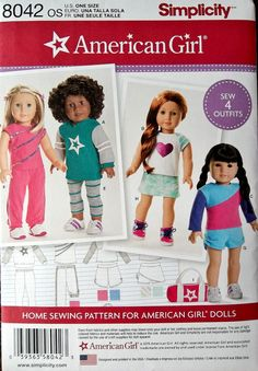 18 inch Doll Clothes Pattern  American Girl Doll by blue510