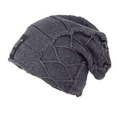 Super cool Crânio padrão chapéus para homens gorros de lã de Malha chapéus  de inverno para dfc60f6ab5d