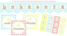 free bake sale printables from my favorite ever....Tomkat Studios