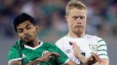 The Republic of Ireland played Mexico in front of a crowd of 42,017 An under-strength Republic of Ireland were outclassed by rampant Mexico in a friendly match at the MetLife Stadium in New Jersey. First-half goals by Jesus Corona and Raul Jimenez and Carlos Vela's tap-in after the break...