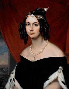 Anônimo - D. Amélia, duquesa de Bragança - Amélia de Leuchtenberg