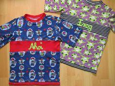 T-Shirts-Verlängern ein Stück dazwischen nähen