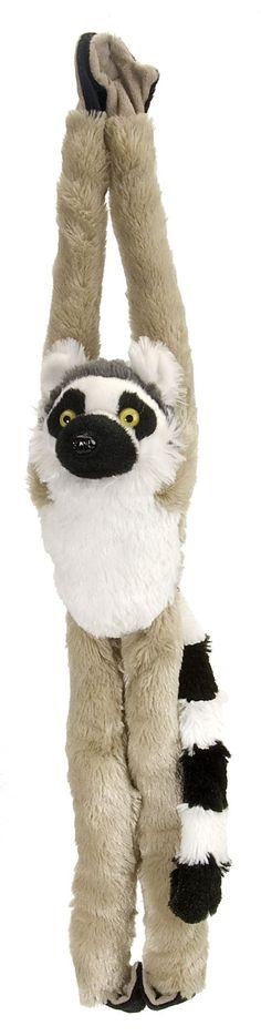 Hanging Ring Tailed Lemur 20-inch