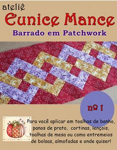 Projeto Barrado Patchwork | ATELIÊ EUNICE MANCE | Elo7