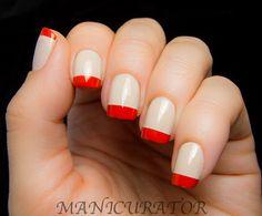 hot red tips #nail #art