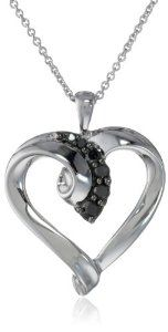 #blackdiamondpendant Sterling Silver Black Diamond Heart Pendant Necklace (1/4 Cttw, I-J Color, I2-I3 Clarity), 18″ by Amazon Curated Collection - See more at: http://blackdiamondgemstone.com/jewelry/necklaces/sterling-silver-black-diamond-heart-pendant-necklace-14-cttw-ij-color-i2i3-clarity-18-com/#!prettyPhoto