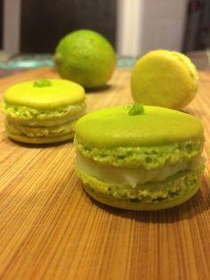 Macarons chocolat blanc citron vert