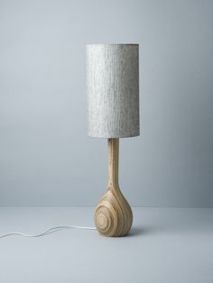 Hand Turned Table Lamp in Pepper ($620)