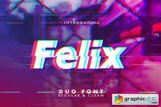Felix Glitch Duo Font