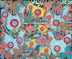 Poulets avec Poissons by Jacques Valmidor Haitian Art, Palette, Kitty, Fine Art, Gallery, Art Art, Pattern, Electric, Prints