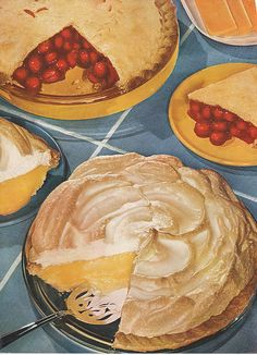 guest post: candice ransom and her mama's southern pies Retro Recipes, Vintage Recipes, Vintage Food Posters, Vintage Ads, Food Clipart, Food Graphic Design, Vintage Baking, Food Illustrations, Aesthetic Food