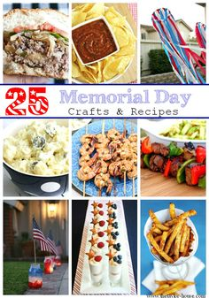 Memorial Day Recipes, Memorial Day Crafts, Memorial Day BBQ