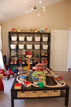Ikea lack and expedit used in our playroom