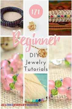 How to Make Jewelry 171 Beginner DIY Jewelry Tutorials...Dive into the world of DIY jewelry with these beginner tutorials! By: Laura Plack, Editor, allfreejewelrymaking.com Designing your own jewelry is a ton of fun and opens up a whole new world of creative possibilities. You are sure to love the artistic freedom that comes from creating your own beginner homemade jewelry designs.  First, though, you need to master the basics. That is where this collection comes in.
