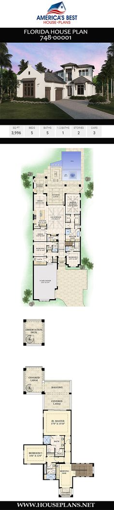 Florida House Plan – Chic Home Office Design Florida House Plans, Florida Home, Best House Plans, House Floor Plans, Home Organization Wall, Office Wall Design, Courtyard Entry, Home Office Layouts, House Color Schemes