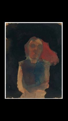 """Nathan  Oliveira - """" Seated Woman """" - 1960 - Watercolor and pencil on paper - 29,8 x 22,9 cm"""