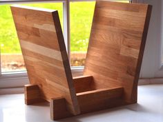 LP Vinyl Record Storage Stand/Rack in Solid Oak by VinylSap