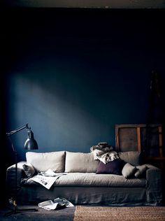 dark blue on the wall