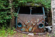 rusty front VW T1