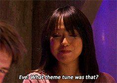 John Barrowman's phone goes off during a take, revealing his ringtone.